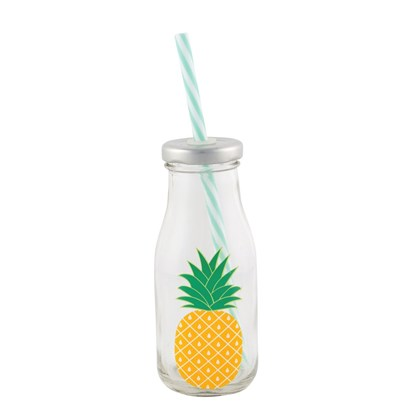 Lahvička s brčkem TROPICAL PINEAPPLE_0
