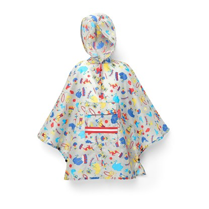 mini maxi poncho M kids circus red_1