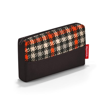 Kapsička na zip POCKETCASE glencheck red_1