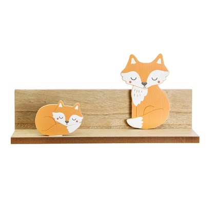 Dřevěná polička Woodland Friends Fox_3